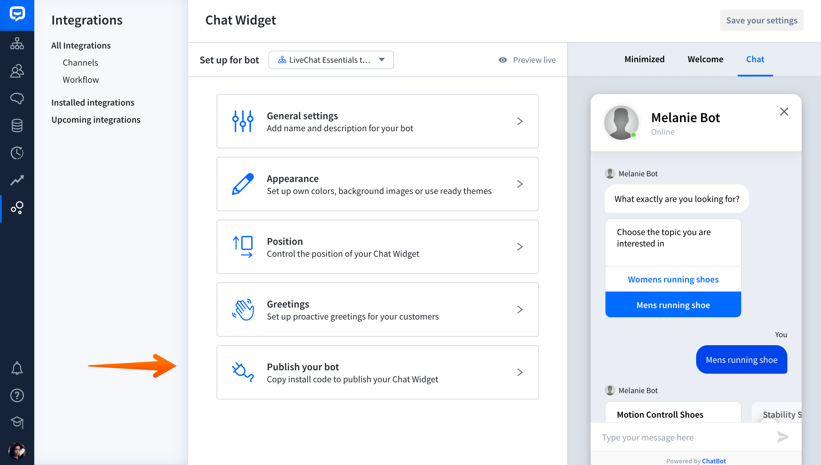 how to instal chatbot
