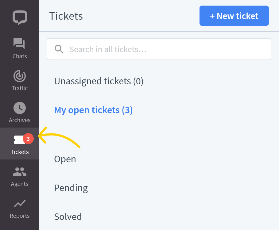 Tickets section