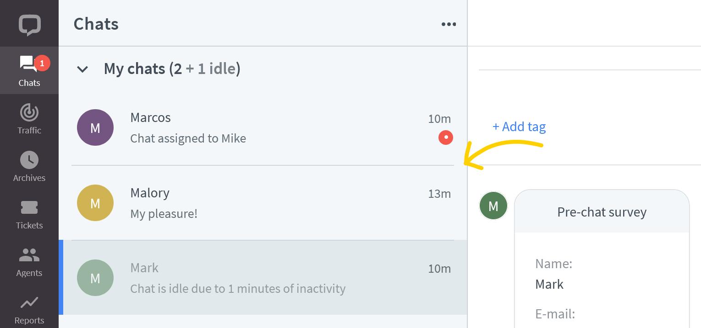 Active chat list