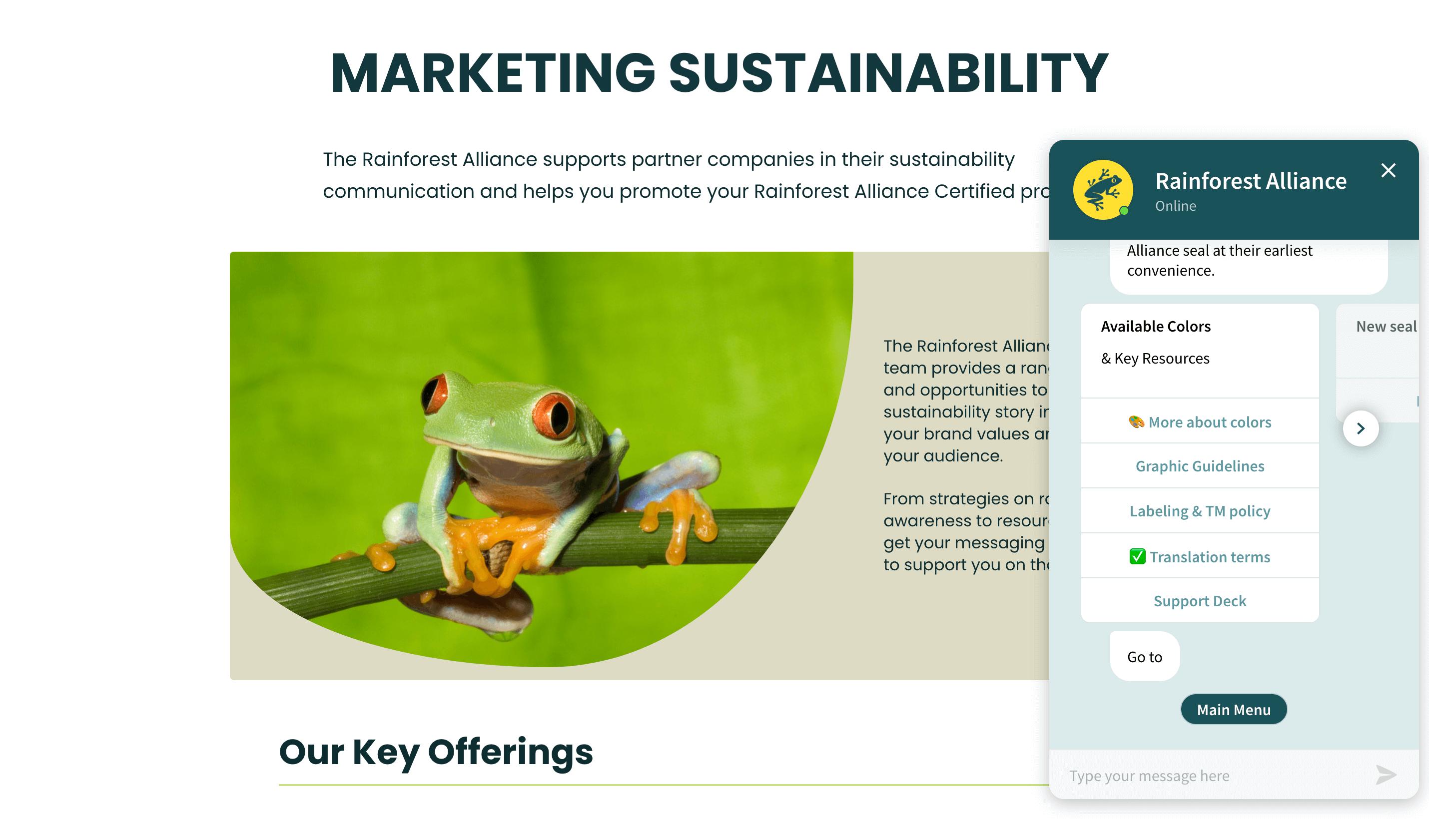 rainforest-alliance-chatbot-customer-story