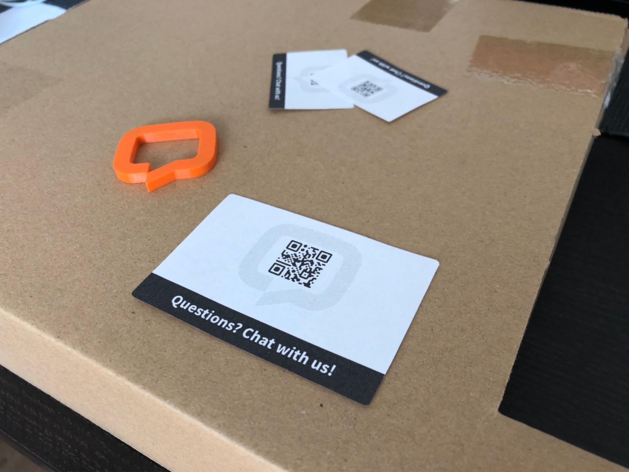 Printed QR code