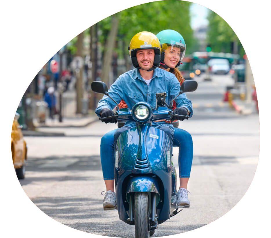 Photo scooter électrique swapperone design