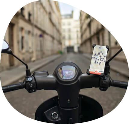photo scooter électrique application mobile
