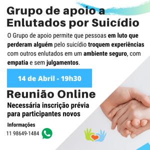 Grupo de apoio a Enlutados por Suicídio 14-04-2021