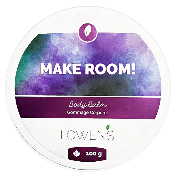 Make Room Stretch Mark and Scar Balm - by Lowens.ca #makeroom #bodybalm #stretchmark #skinfood #natural #canadiangreenbeauty