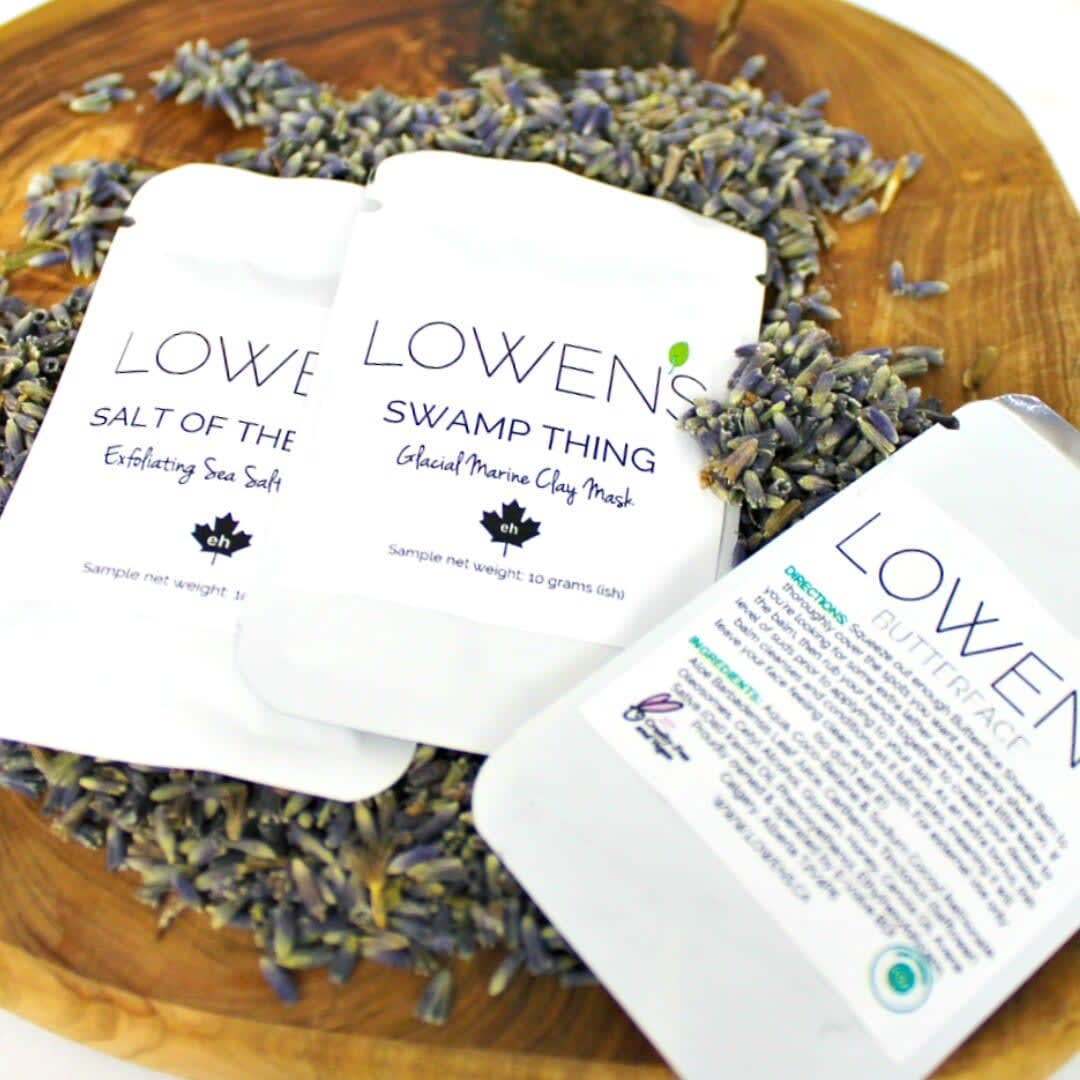 SAMPLES - by Lowens.ca #canadiangreenbeauty #bodylotion #moisturizer #lotion #natural #skincare #greenbeauty