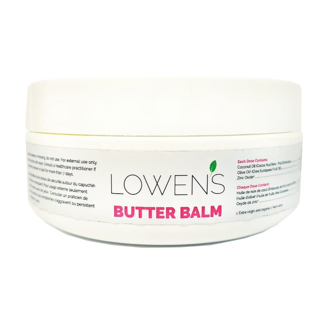 Butter Balm - All-Purpose Skin Balm - by Lowens.ca #butterbalm #skincare #allnatural #skinbalm #balm #canadiangreenbeauty