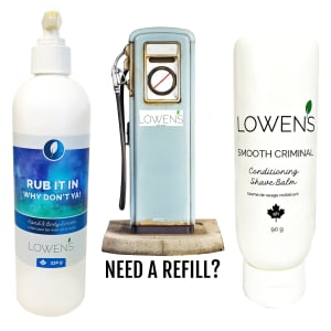 Offering Product Refills - by Lowens.ca #refills #skincarerefills #canadiangreenbeauty