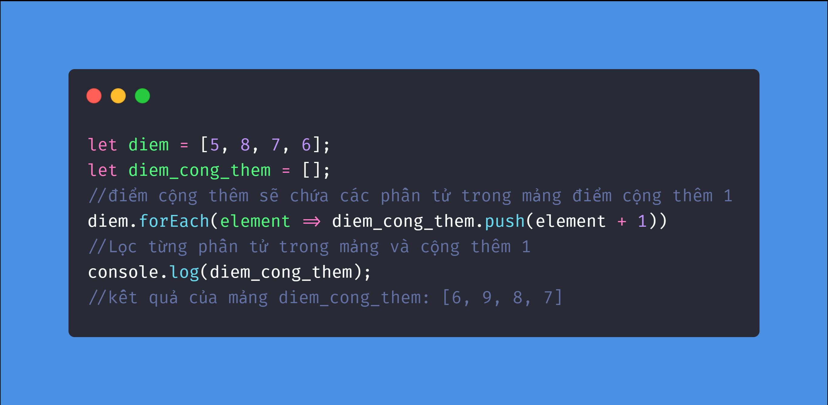 Phương Pháp forEach Trong Javascript