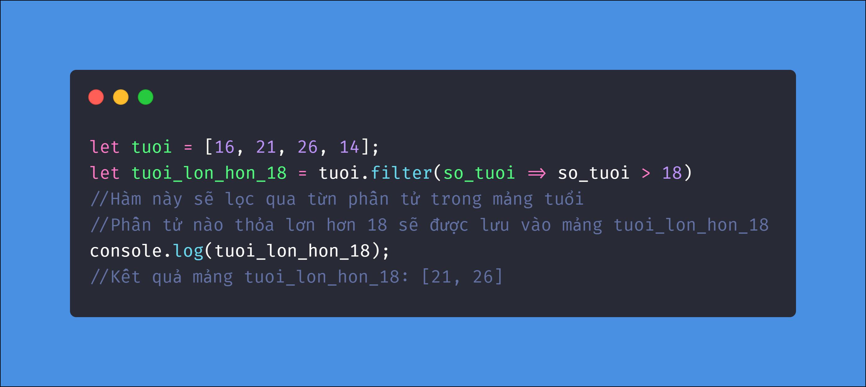 Phương Pháp filter Trong Javascript