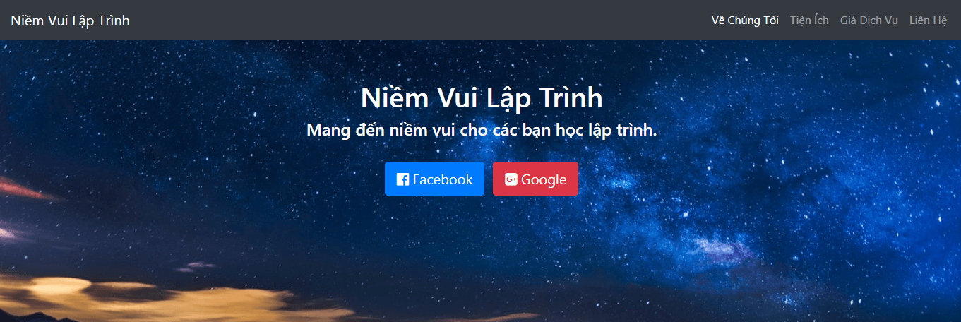 Bootstrap 4 tạo nội dung section