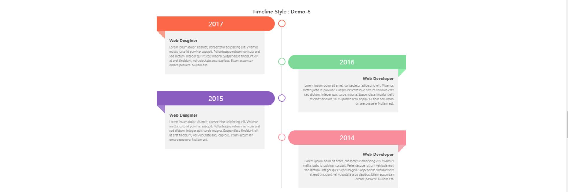 Cách Tạo Timeline Bootstrap