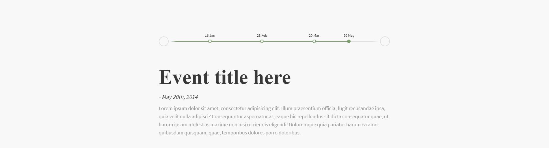 Cách Tạo Jquery Horizontal Timeline