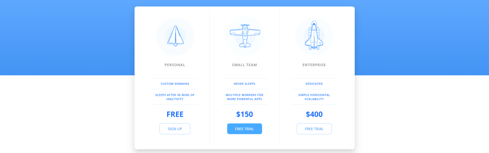 Pricing Table HTML5 CSS3