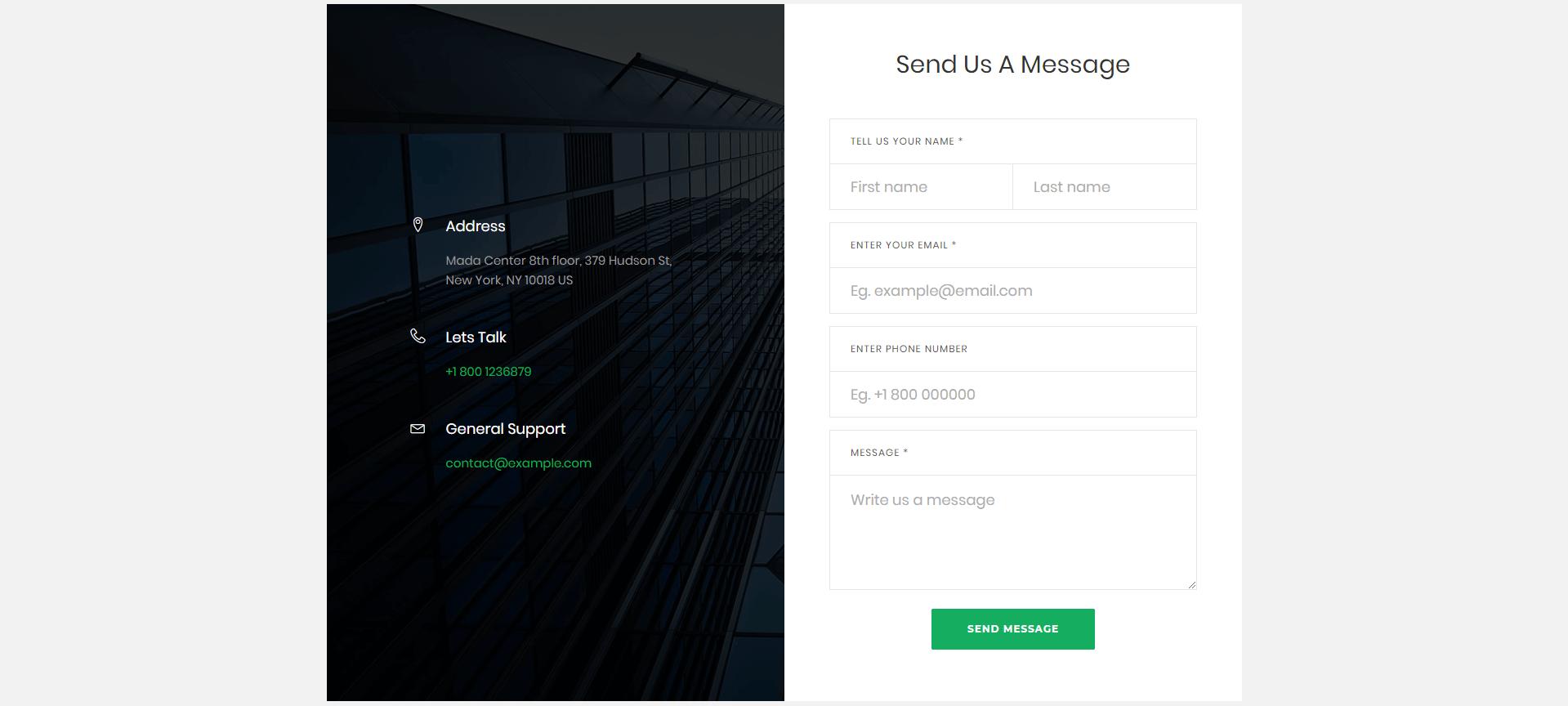 Contact Form xây dựng bằng HTML, CSS và Bootstrap Phần 6