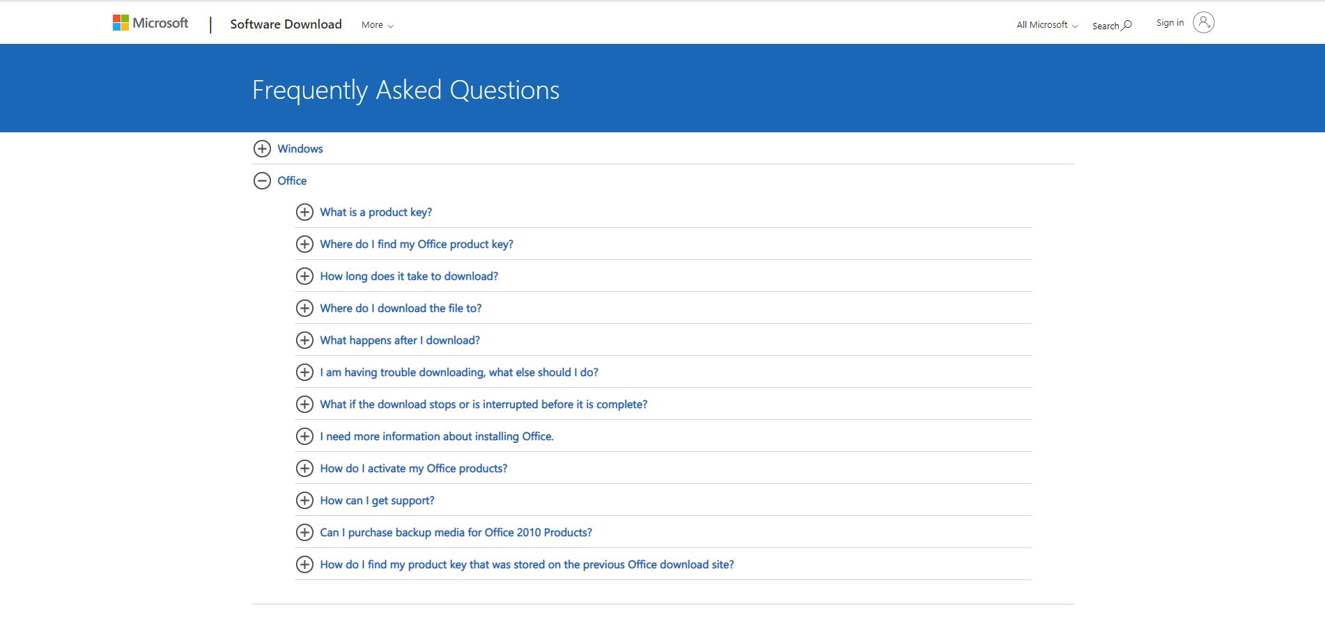 Ví dụ về Microsoft FAQ