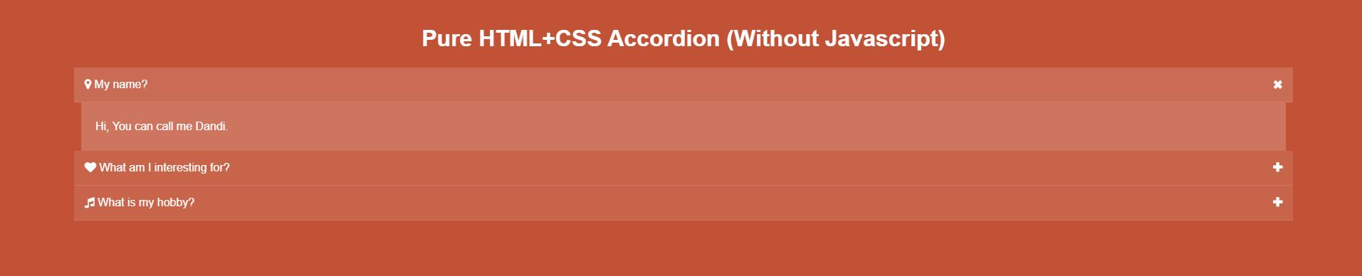 Cách Tạo HTML CSS Accordion