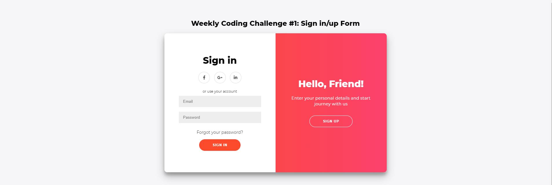 Form Đăng Nhập, Đăng Ký xây dựng bằng HTML, CSS và Javascript Phần 1