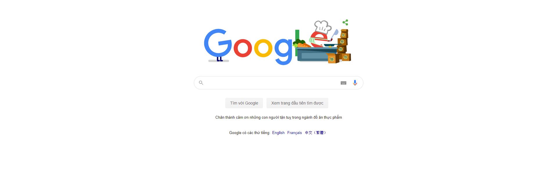 Ví dụ về form tìm kiếm Google