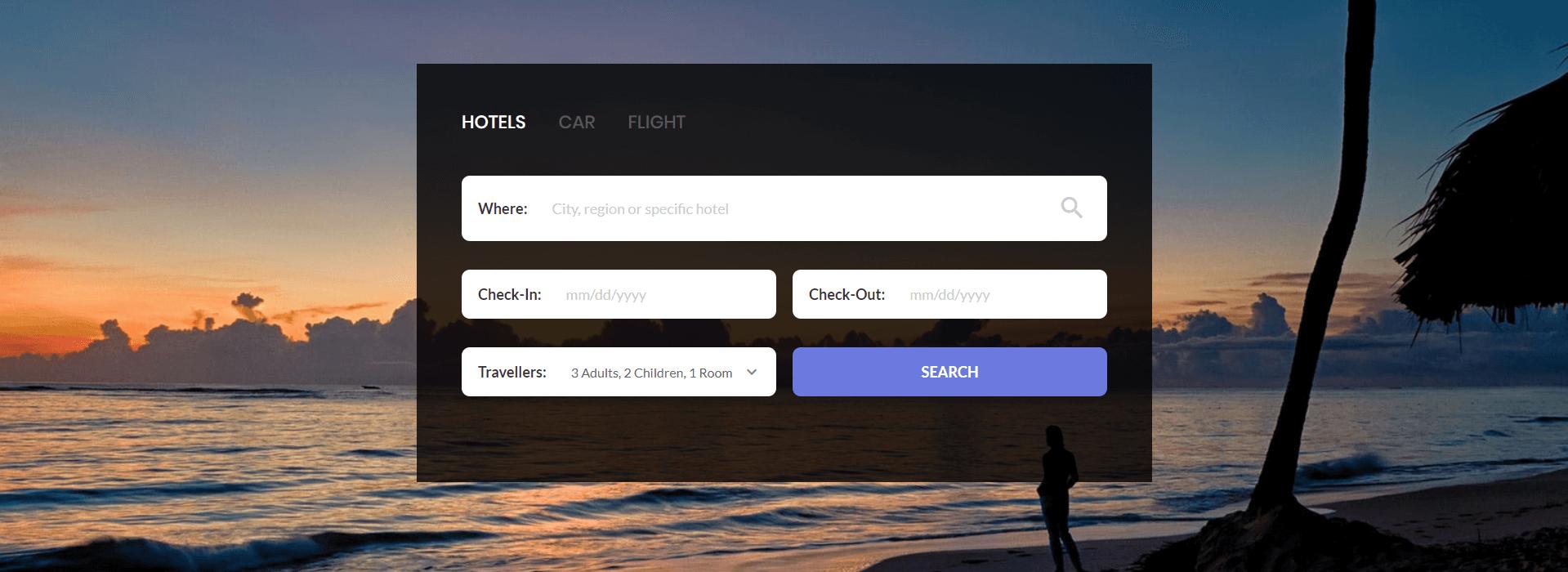 Form Tìm Kiếm xây dựng bằng HTML, CSS và Javascript Phần 10