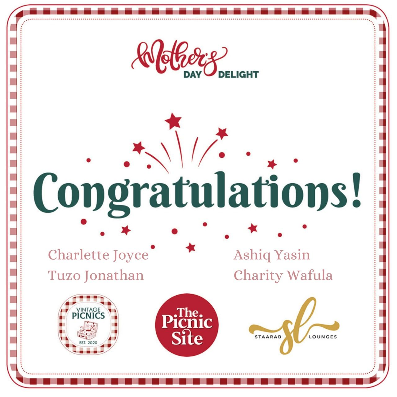 Congratulations To Our Winners!!!!