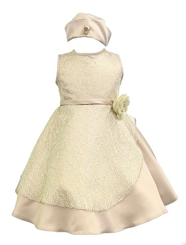 ec45dd2b7801 Baby Girl Toddler Pageant Easter wedding Party Formal Champagne ...
