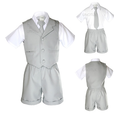 New Baby Boy /& Toddler Formal Vest shorts Hat Suit New born to 4T Khaki