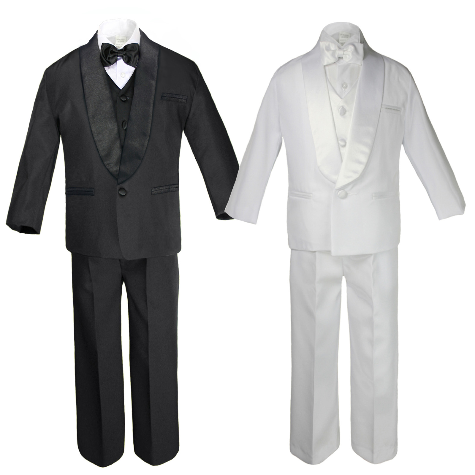 78170e8f44e0 Suits & Sport Coats Clothing Baby Kids Child Kid Toddler Boy Teen Formal  Wedding Party White Suit Tuxedo Set Orange Satin Vest Bow Tie ...