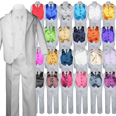 New 9 color satin zipper necktie formal tuxedo Vest Holiday Party suit Size:S-20