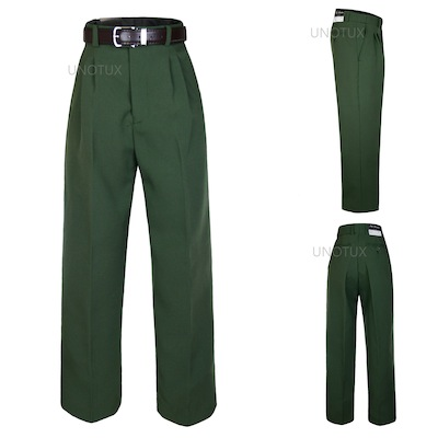 available wholesale highly coveted range of Details about Boy Kid Teen Formal School Uniform Pants Olive Dark Green  belt for Suits sz 4-20