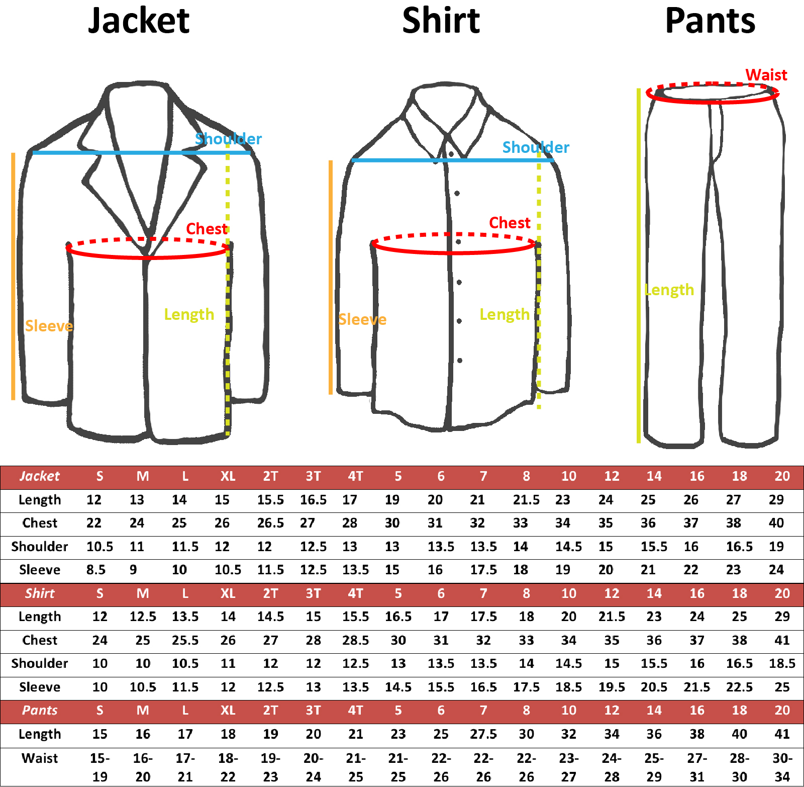 New Born Baby Toddler Kids Boy Teen Formal White Shawl Lapel Suit Set Satin Necktie Sm-20