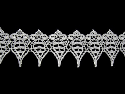 "Unotrim 2/"" White Venice Guipure Lace Trim Scalloped By Yardage"