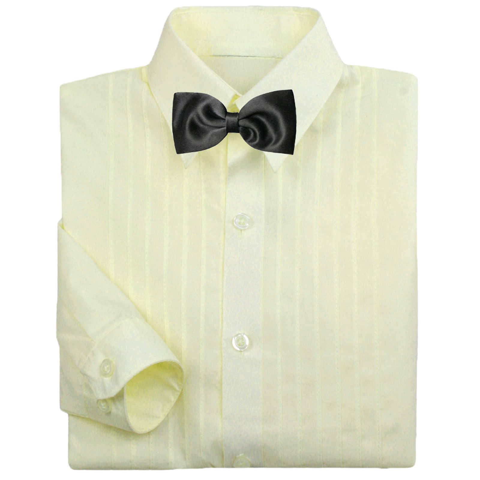 21befed74009 Baby Boy Formal Tuxedo Suit Ivory Button Down Dress Shirt Black Bow ...