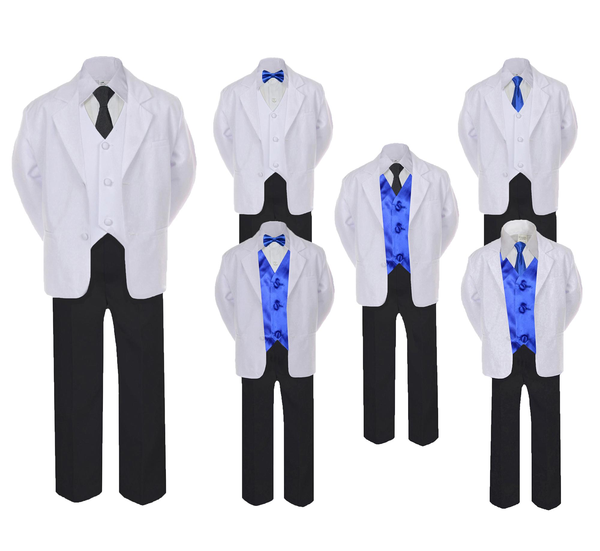 Leadertux Baby Toddler Boy Kid Wedding Party Suit Gray Shorts Shirt Hat Necktie Set Sm-4T