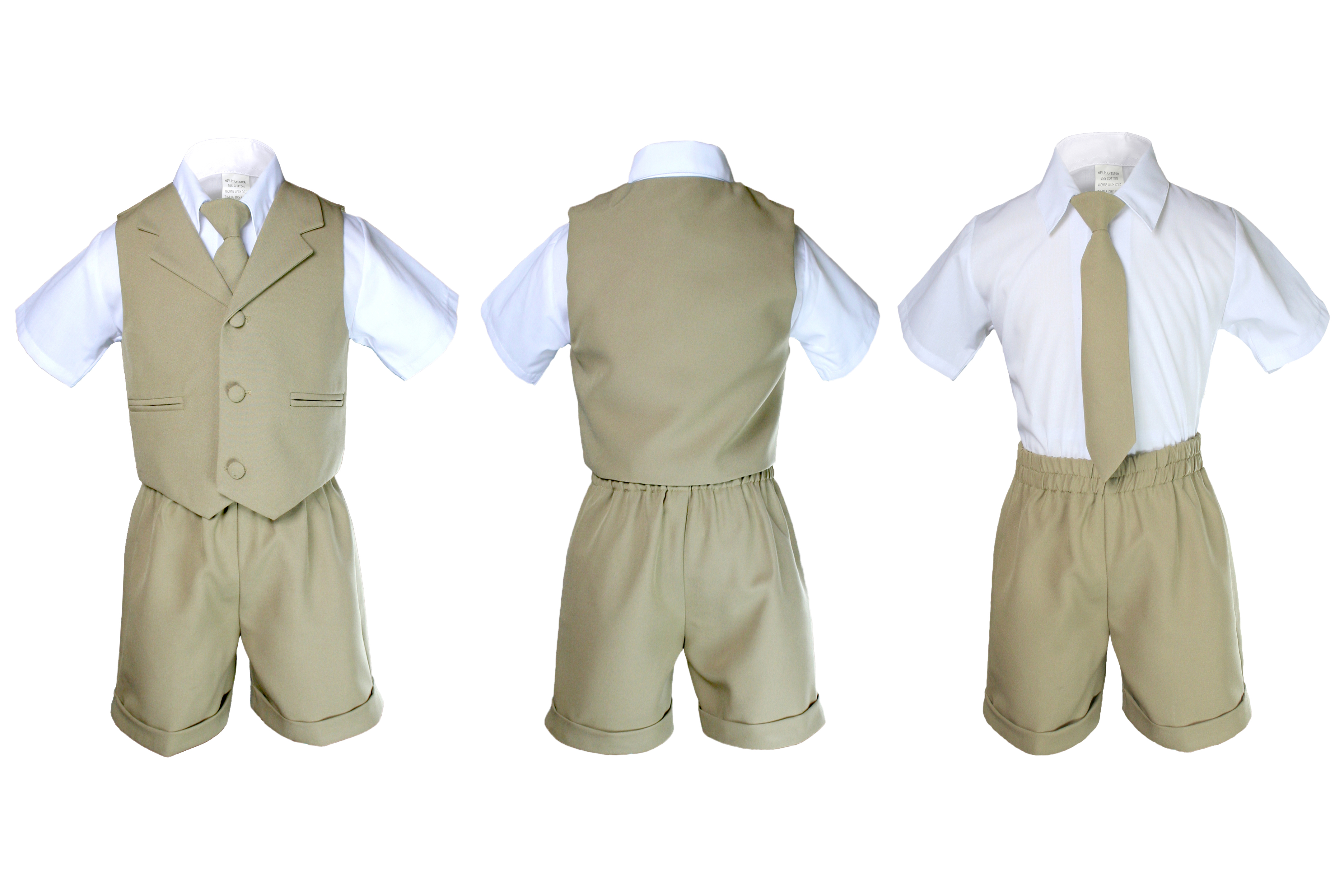 Hat Suit New born to 4T Khaki New Baby Boy /& Toddler Formal Vest shorts