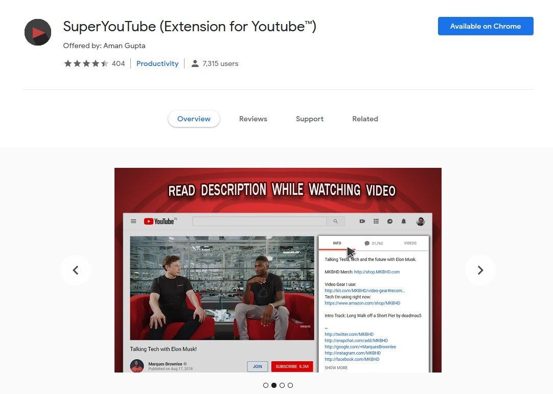 【Chrome 插件】 - SuperYouTube边看Youtube影片边读留言