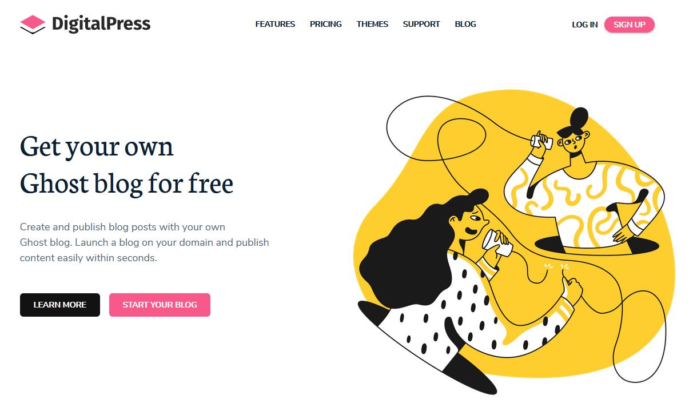 DigitalPress Ghost的免费部落格平台