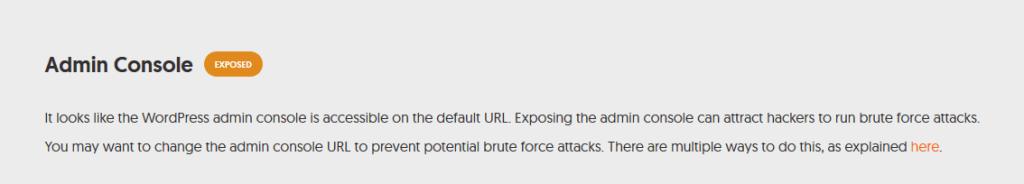 Admin Console Expose