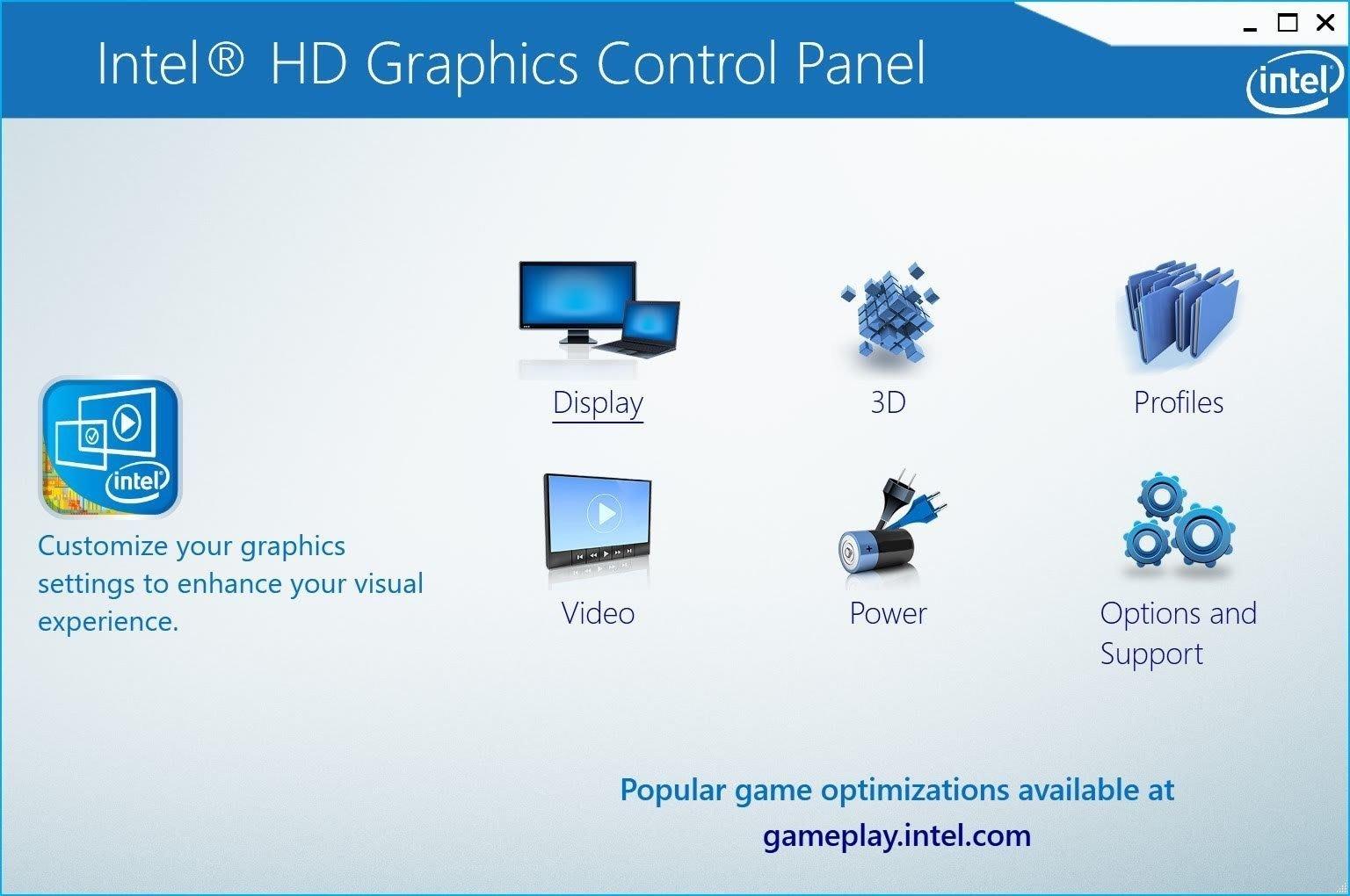 Intel HFGraphics Control Panel