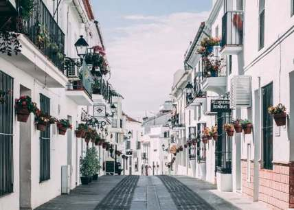Road for cars in Spain - Located in Spain, Mijas