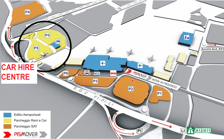 Pisa Airport Terminal Map Pisa Airport Car Hire