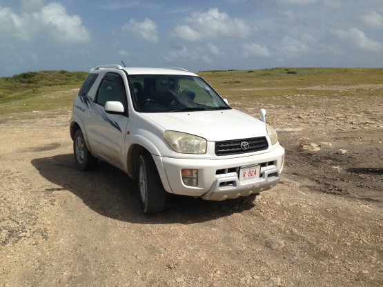 Rented Car at Devils Bridge, Antigua