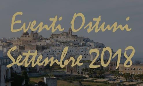 Eventi Ostuni Settembre 2018