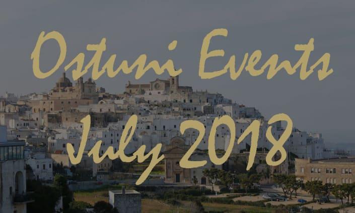 Ostuni Events July 2018