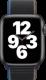Apple Watch SE (GPS + Cellular, 44 mm), Tähtiharmaa, hiilenvärinen Sport Loop -ranneke