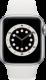 Apple Watch Series 6 (GPS + Cellular, 40 mm), Hopea, valkoinen ranneke