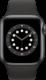 Apple Watch Series 6 (GPS + Cellular, 40 mm), Tähtiharmaa, musta ranneke