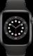 Apple Watch Series 6 (GPS + Cellular, 44 mm), Tähtiharmaa, musta ranneke