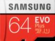 Samsung MicroSD EVO+ 64 Gt -muistikortti + SD-adapteri