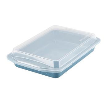 "Paula Deen Speckle Nonstick Bakeware 9"" x 13"" Covered Rectangle Cake Pan"